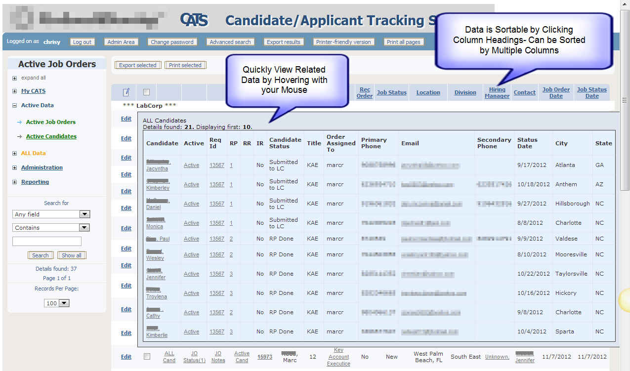 CATS :: Candidate Applicant Tracking System with Select Features: www.chrisbusinesssolutions.com/joomla/products-and-services/our...